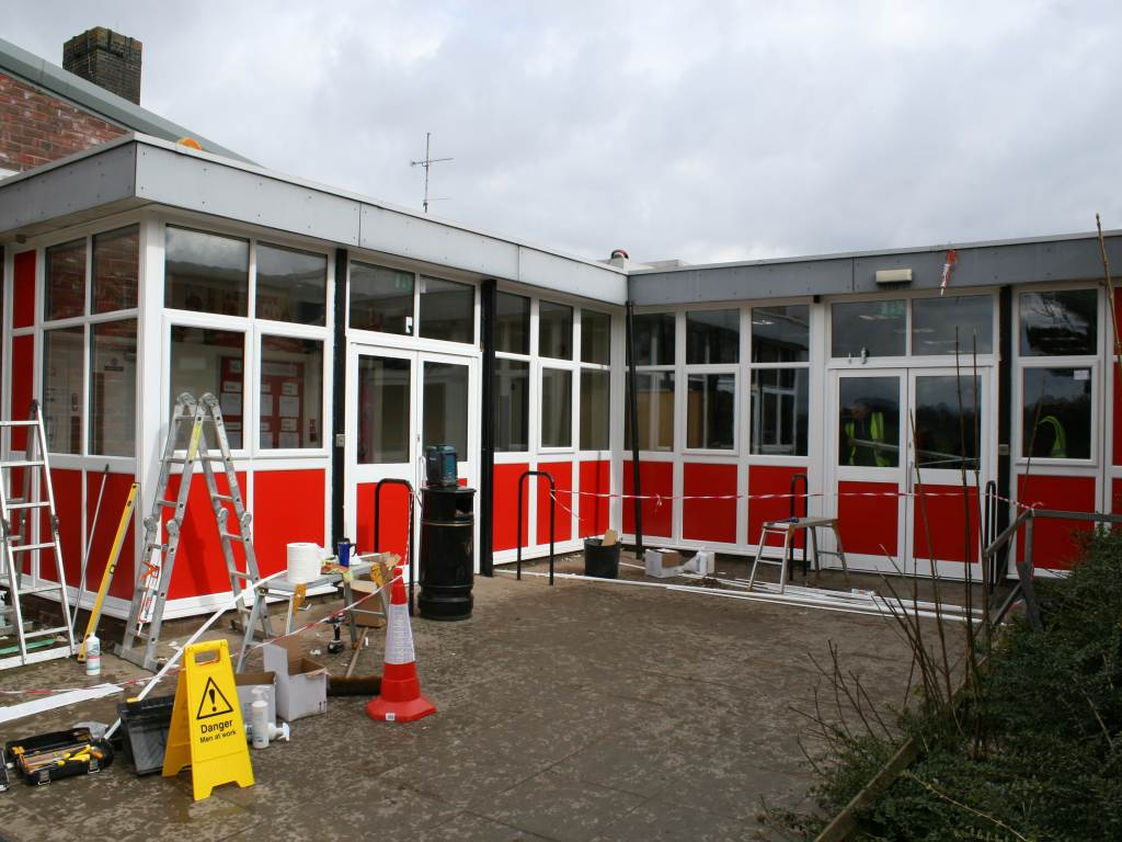 Westley school during the work
